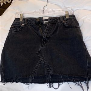 Top shop size 8 jean skirt black